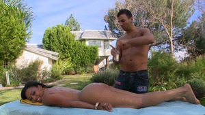 RoundAndBrown: Big ass Anita Peida cock sucking sex scene