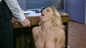 Big Tits at Work - Teen chick Alix Lynx cumshot