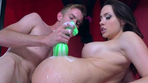 BigWetButts.com - Chanel Preston wearing dress gonzo cumshot