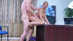 Big Tits at Work - American Britney Amber is a tattooed blonde