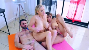 BabyGotBoobs: Piercing Julia Ann FFM on the train