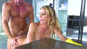 Mommy Got Boobs - Stepmom Alexis Fawx spanking