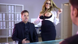 Big Tits at Work - Stacey Saran ass pounded sex tape