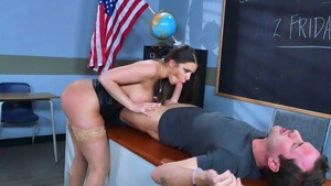 Big Tits at School: Bald Brooklyn Chase POV blowjob