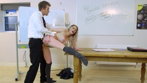 Big Tits at School - Carly Rae in skirt as well as Danny D