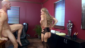 Big Tits at Work - Nicole Aniston and Johnny Sins spanking
