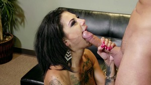 Brazzers - Bonnie Rotten in tight stockings gagging in HD