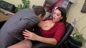 Big Tits at Work - Tattooed Alison Tyler fantasy 69 in office