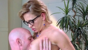 Big Tits at Work: Large boobs Cherie Deville cumshot creampied
