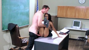 Big Tits at School - Blowjobs with ebony Anya Ivy & Jordan Ash