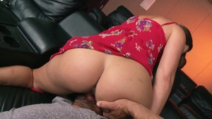 ZZ Series: Brunette Dani Daniels wearing dress feet fetish