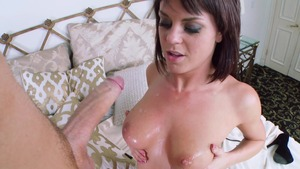 Baby Got Boobs: Rahyndee James among Clover in shower