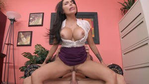 Big Tits at Work: Lela Star cumshot