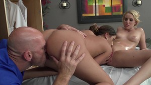 Dirty Masseur - August Ames reverse cowgirl