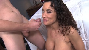 MommyGotBoobs: Piercing Lisa Ann receiving facial in hotel