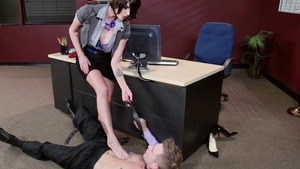 Big Tits at Work - Trimmed pussy Joslyn James craving cumshot