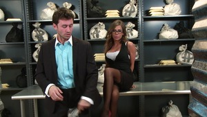 Big Tits at Work - Madison Ivy & James Deen clean cumshot