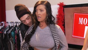 MommyGotBoobs: Sammy Brooks in thong escorted by Xander Corvus