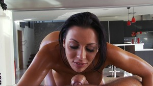 Dirty Masseur: Rachel Starr & Keiran Lee POV blowjob