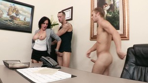 Big Tits at Work - Tory Lane in skirt cumshot in HD