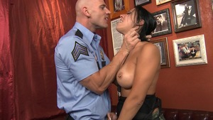 Big Tits in Uniform: Rachel Starr cumshot