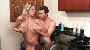 MommyGotBoobs - Angela Attison in skirt plus James Deen