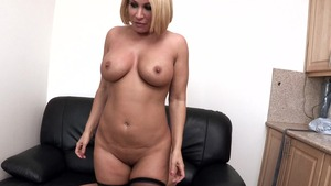 Big Tits at Work: Mellanie Monroe reverse cowgirl sex scene