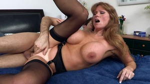 MILFsLikeItBig: Darla Crane with James Deen reverse cowgirl