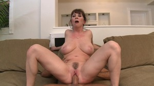 MILFs Like It Big - European in a dress reverse cowgirl