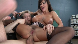 Big Tits at School - Lisa Ann is really super slim brunette