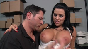Big Tits at Work - Blonde babe Julie Cash ass fucking