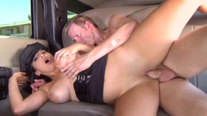Big Tits in Uniform - Driver Missy Martinez reverse cowgirl