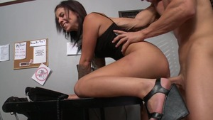 Teens Like It Big: Madelyn Monroe with Johnny Sins in office