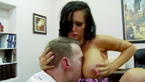 Big Tits at Work: Jenna Presley & Mark Wood reverse cowgirl