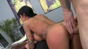 Big Tits at Work - Angelina Valentine reverse cowgirl