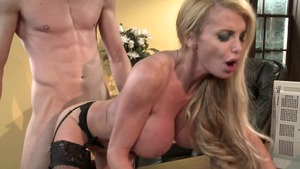 Mommy Got Boobs - Blonde haired Taylor Wane face fuck