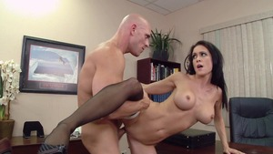 Big Tits at Work - Shaved Jessica Jaymes pussy fucking video