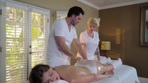 Dirty Masseur: European Giselle Palmer spanking