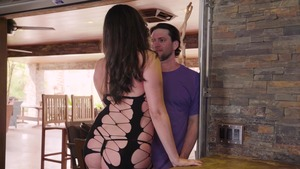 PornstarsLikeItBig - Allie Haze in fishnets cowgirl sex in HD