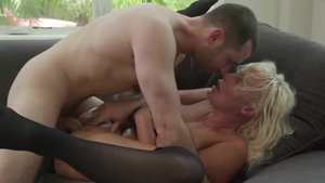 HotWifeXXX: Big boobs London RIver goes in for real sex