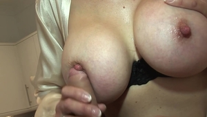 Lady Sonia: Huge boobs young british MILF electro sucking cock